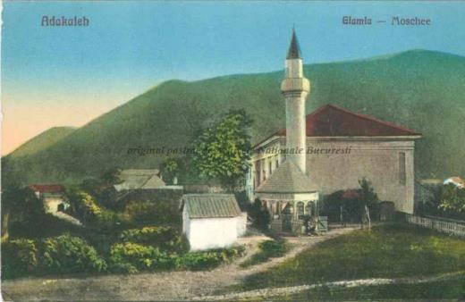 BU-F-01073-5-02945 Moschee la Ada Kaleh (insulă pe Dunăre, acoperită în 1970 de apele lacului de acumulare al hidrocentralei Porțile de Fier I), s. d. (sine dato) (niv.Document)