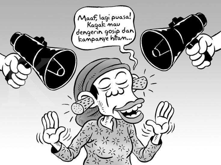 Kartun Benny, Kontan, Juli 2014: Puasa dan Kampanye Hitam