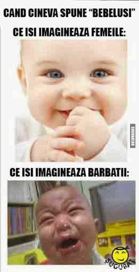 Ce isi imagineaza fiecare cand aude de bebelusi