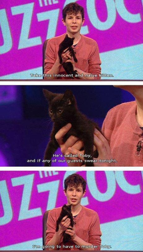 "And no, kittens are NOT safe. | 24 Perfect Simon Amstell Comebacks From ""Never Mind The Buzzcocks"""
