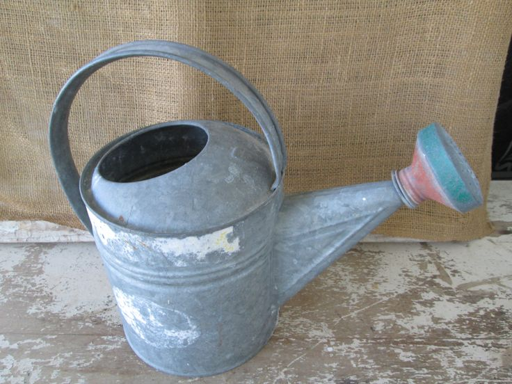 Vintage Galvanized Metal 6 Qt Watering Can,Sprinkler Head,Country cottage garden, Farmhouse,Farm House, Garden decor,Home Living by AntiquesPlus on Etsy