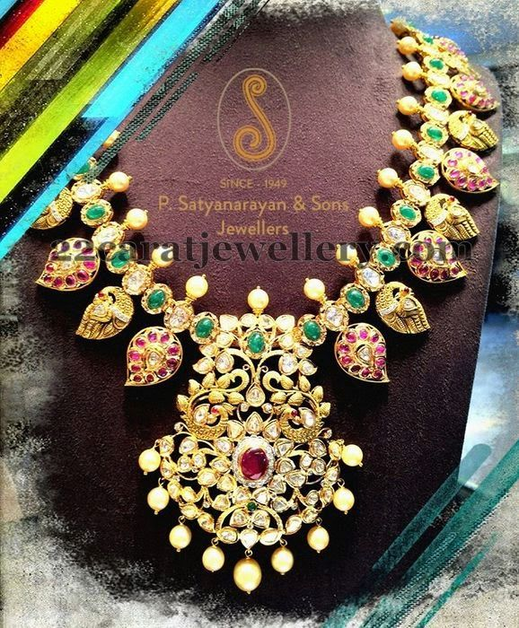 Trendy Mango Necklace by PSJ | Jewellery Designs