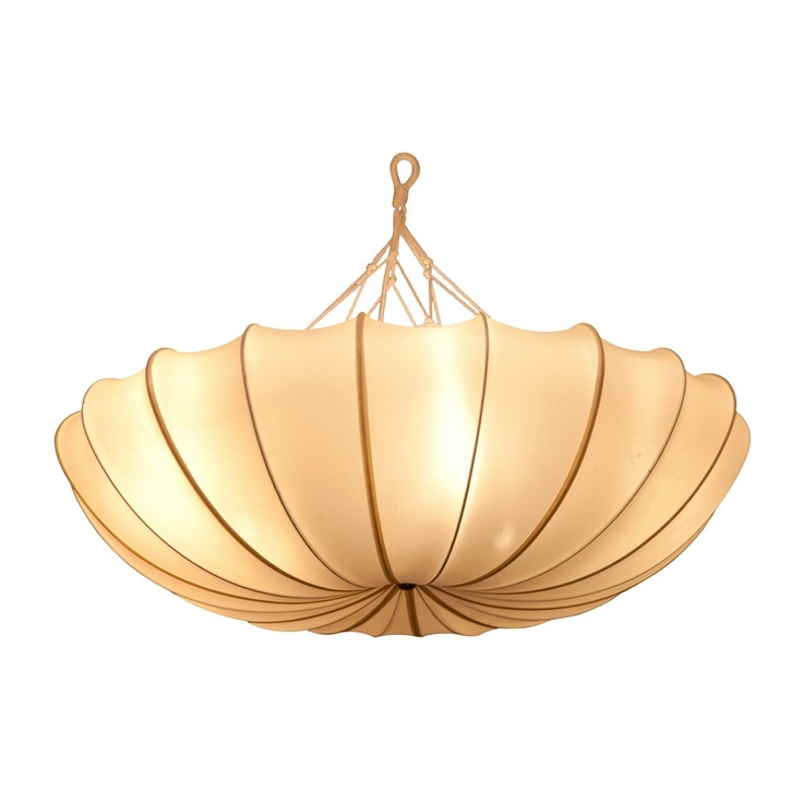 Gong Online Shop - Silk BENITIER Ceiling Lamp, £550.00 (http://www.gong.co.uk/silk-benitier-ceiling-lamp/)