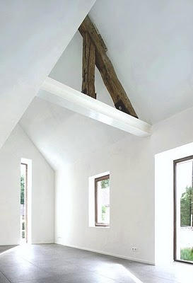 Rogge house remodel: White Wood, White Spaces, Adn Architecture, Interiors Architecture, Architecture Interiors, Old Wood, Barns Wood, Wood Beams, White Wall