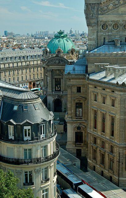 Paris arrière de l'Opéra Garnier