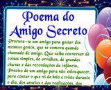 Cartas para Amigo Secreto, o poema do amigo secreto