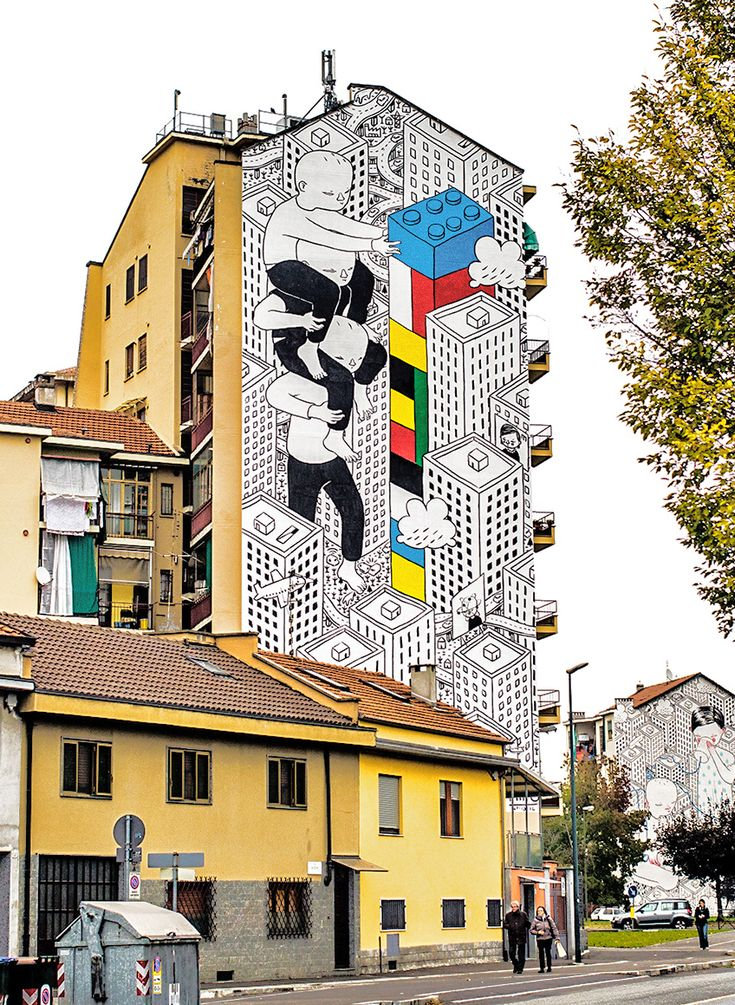 Affectionate Murals on the Streets of Italy by Millo