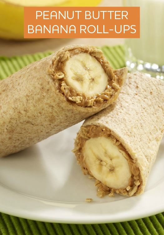 Looking for a new after-school snack? Kids will love to make and eat these Peanut Butter Banana Roll-Ups!