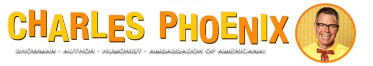 """Charles Phoenix is the Ambassador of Americana! He is a showman, tour guide, food crafter, and author known for his live comedy slide show performances, madcap Test Kitchen videos, """"field trip"""" adventure tours, and colorful coffee table books, all celebrating classic and kitschy American life and style. Be prepared for your national pride to swell!"""
