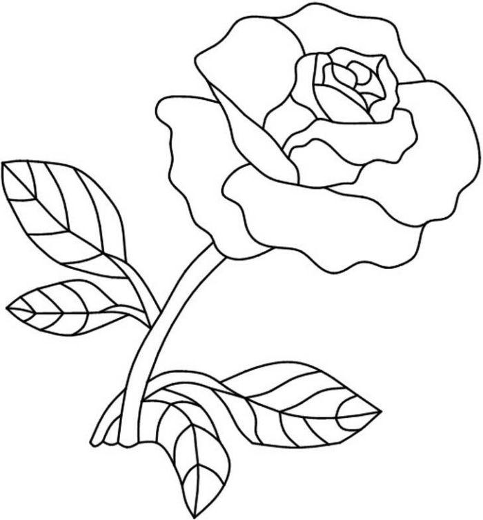 1001 mod les et conseils pour apprendre comment dessiner une rose boncuk i pinterest - Dessin facile rose ...
