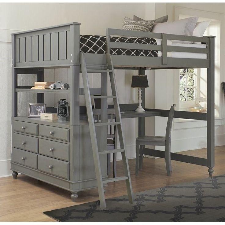 NE Kids Lake House Full Loft Bed