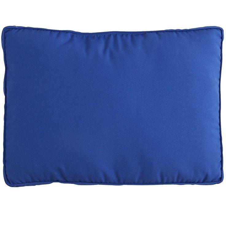 Large Modular Back Cushion In Cabana Cobalt Blue
