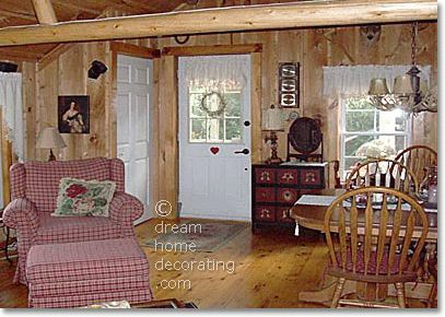 Find This Pin And More On Roughing It. Home Decorating On Country Cabin ...