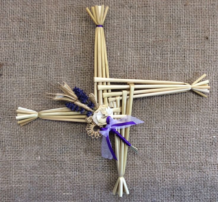 St Brigid's Cross; Irish corn dolly; good luck charm by TheWheatWeaver on Etsy