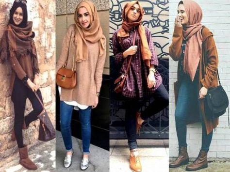 Winter Hijab fashion combinations – Just Trendy Girls