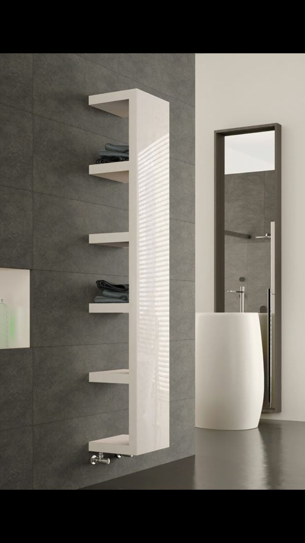 Natasha ladder rail straight modern electric towel radiator in chrome - Cool Modern Bathroom Towell Rail Radiator