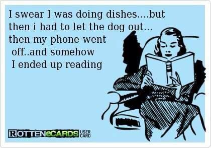 I swear I was doing the dishes..