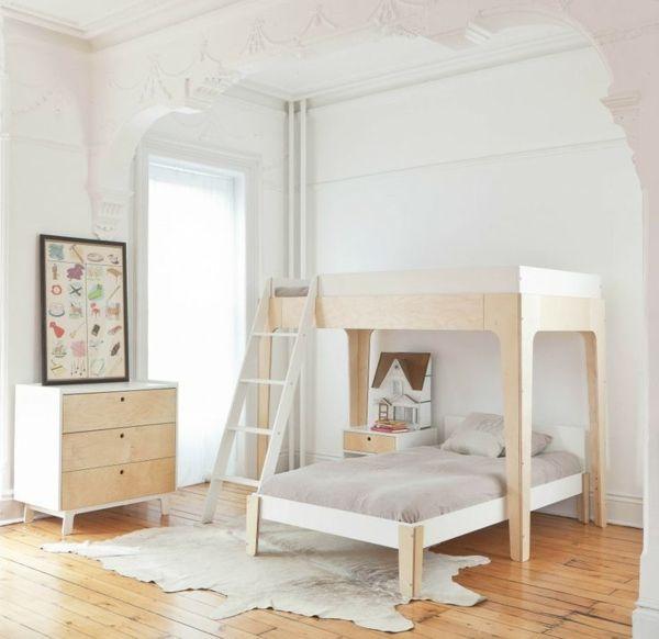 kinderzimmer gestalten minimalistisch weißer teppich