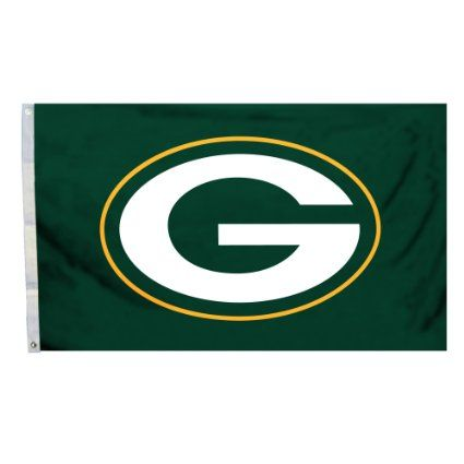 Amazon.com: NFL Green Bay Packers Logo Only 3-by-5 Feet Flag with Grommetts: Sports & Outdoors