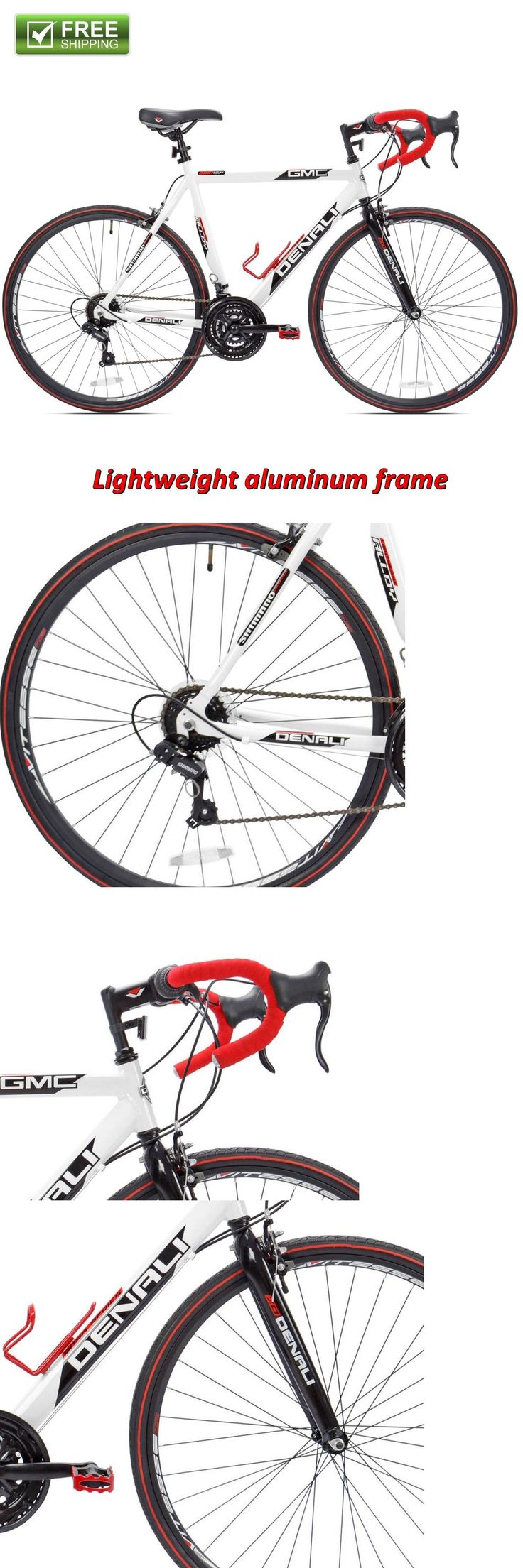 bicycles: 22.5 Men Road Bike 21-Speed Aluminum Frame Bicycle White/Red -> BUY IT NOW ONLY: $199.53 on eBay!