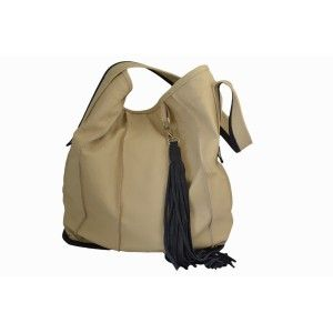 Studio Kropki3 - beige and navy bag LOLA