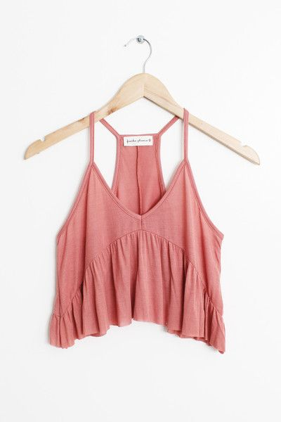 """Details Size Shipping • 95% Rayon 5% Spandex • Soft baby rib tank top • Hand Wash • Line dry • Made in the U.S.A • Measured from small • Length 14"""" • Chest 12"""""""