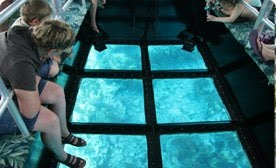 glass bottom ride in seychelles and in key west