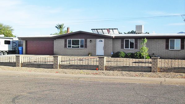 6/8/17. Remodeled on centrally located ½ acre w/mtn views. Open living  w/FP, Corian counters, & newer appliances. 3BR/2BA/2CG. Covered patio, block wall, shed, RV & pedestrian gates, huge RV pad. $167,900. Patsy Molinari, 520-220-2555, patsy_6@q.com. Sierra Vista Realty. Direct MLS link at www.AZrealestatepress.com. Get more info on page 7 of the current REP.