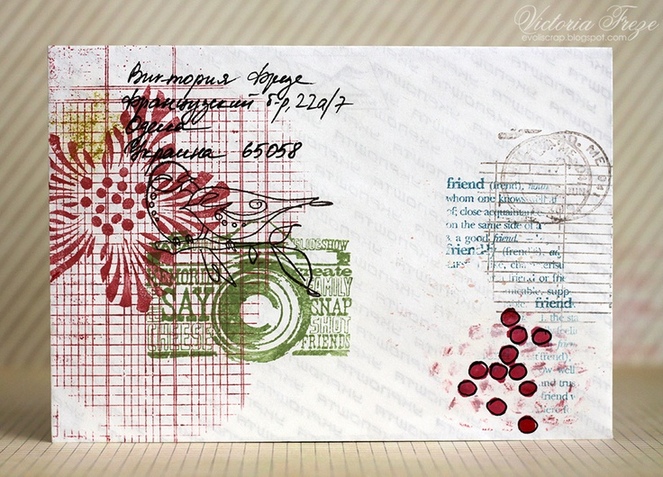 stampomania mail art envelopes