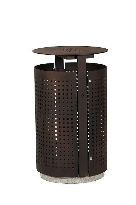 GroundLevel afvalbak Simple+ van Euroform. #afvalbak #litterbin #steel #rosadafashionoutlet