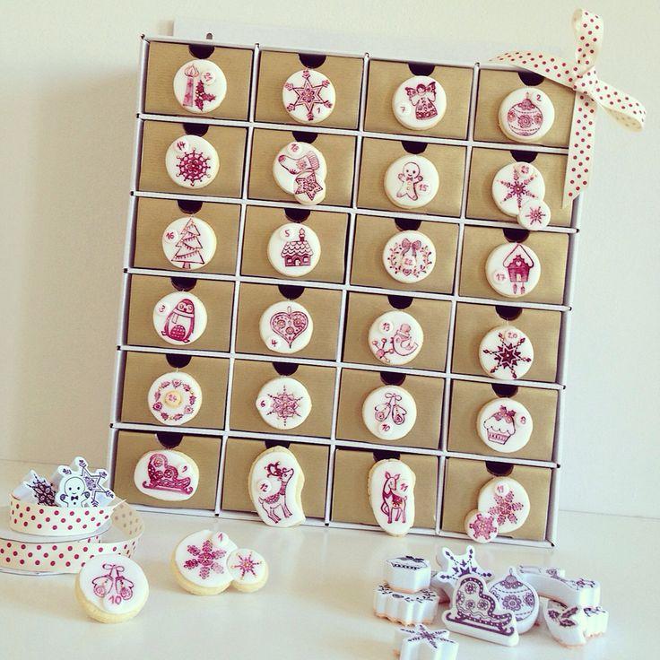 Christmas cookie Advent calendar by Hana Rawlings