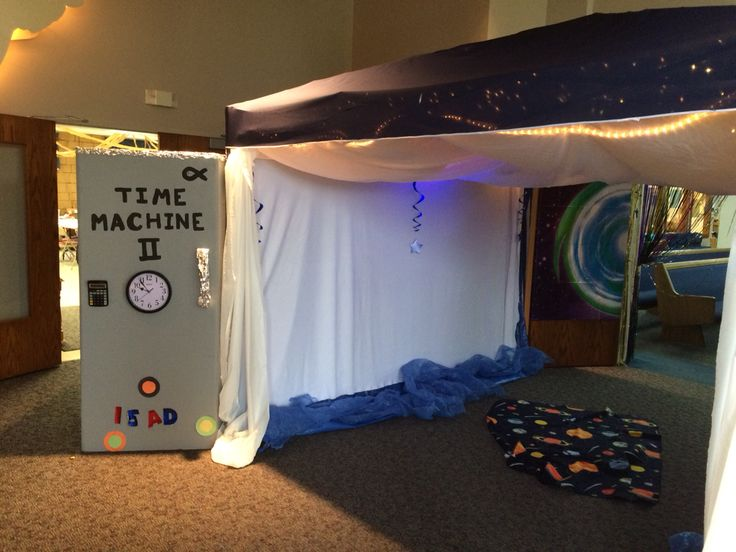 Classroom Skit Ideas ~ Blast to the past vbs theme time machine entryway