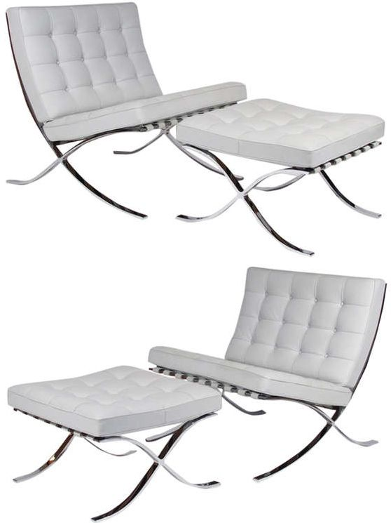 View This Item And Discover Similar Lounge Chairs For Sale At   Matched  Pair Ludwig Mies Van Der Rohe For Knoll Barcelona Chairs And Ottomans, ...