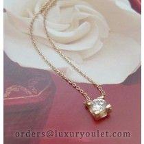 C DE Cartier Pendant in Yellow Gold With A Diamond