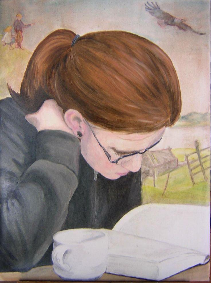 Lesende1, 2004 by Lisa Schneider-Baur (German)
