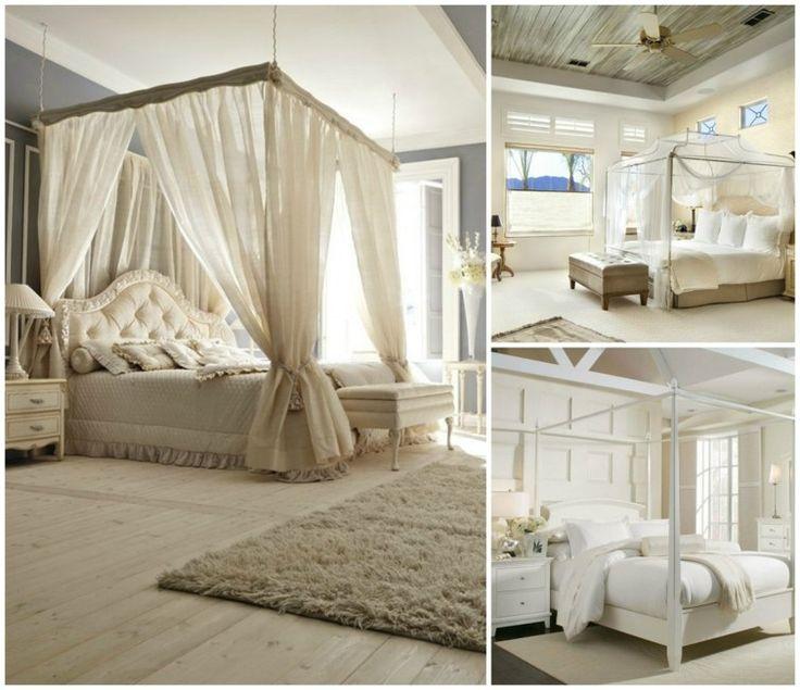Le lit baldaquin est un lit romantique, créatif et certainement une source d'imagination dans la décoration intérieure. Voici quelques idées intéressantes:
