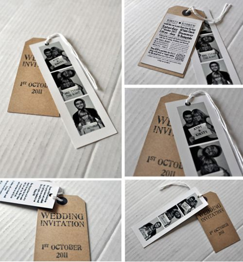 How easy and simple - you could do this for any event invitations #wedding