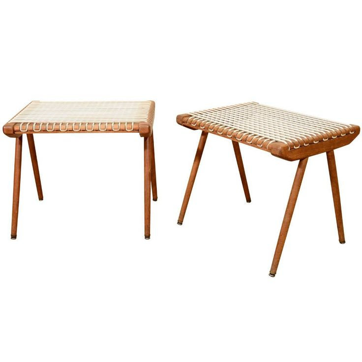 Louis Sognot Woven Benches 1