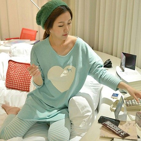 2017 womens pajama sets Autumn and winter Long Sleeve femme pijamas mujer homewear M L XL XXL home suit Plus Size pyjama