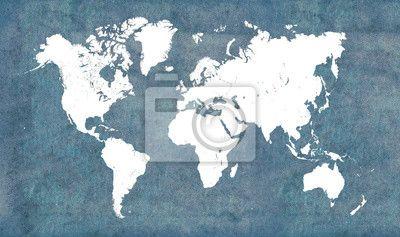 Mapa świata, vintage na obrazach Redro. Najlepszej jakości fototapety, naklejki, obrazy, plakaty, poduszki, tapety. Chcesz ozdobić swój dom? Tylko z Redro