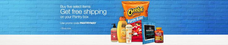 #Amazon: Amazon prime pantry free shipping with purchase of 5 select items with code PANTRYMAY #LavaHot http://www.lavahotdeals.com/us/cheap/amazon-prime-pantry-free-shipping-purchase-5-select/87656