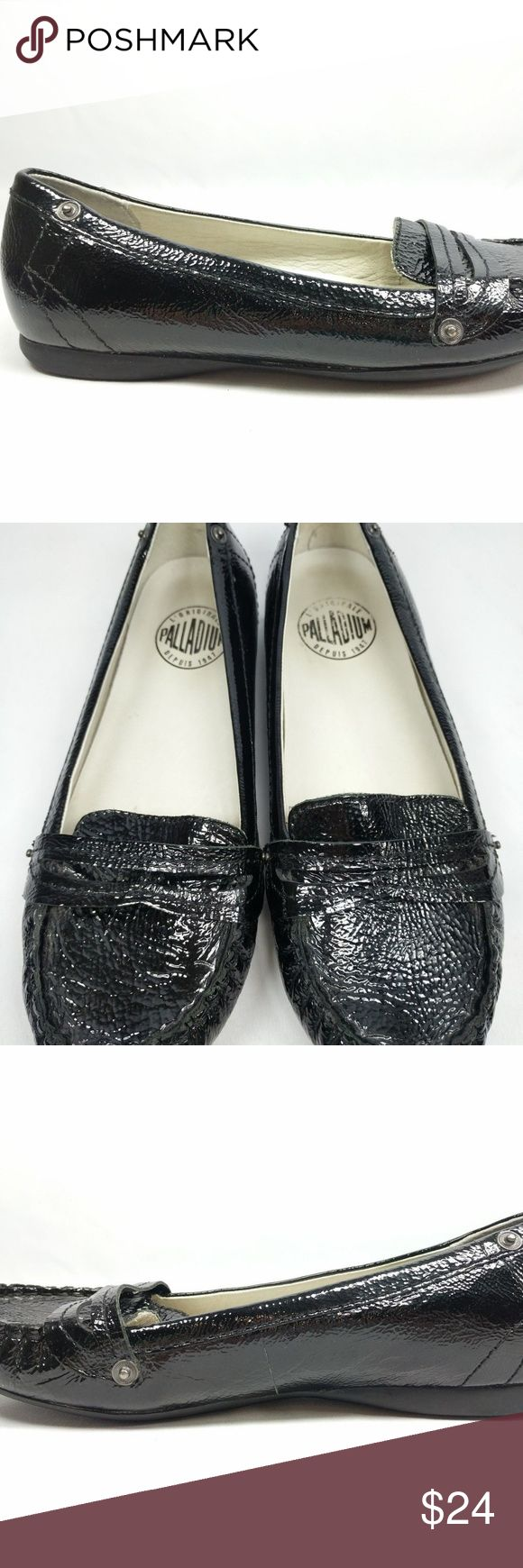 Palladium Size 8.5 Black Leather Loafer Flats Palladium Womens US Shoe Size 8.5 EU Shoe Size 39.5 Black Genuine Leather Upper Leather Lining Loafer Penny Loafer Flats Rivets Moc Toe Please see pictures for condition of item  Thanks so much :)  Positive Vibes Only! Palladium Shoes Flats & Loafers