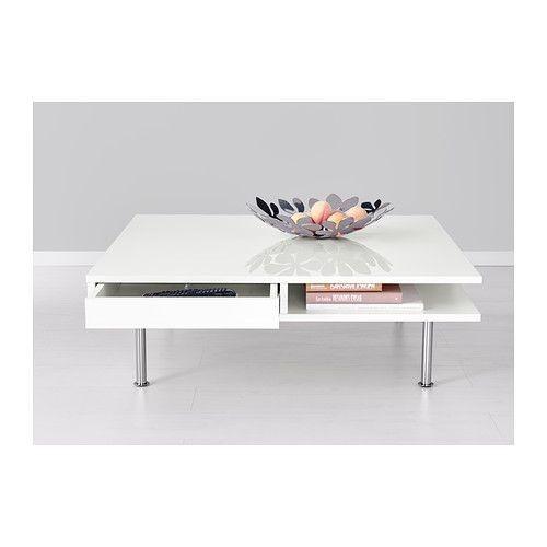Tofteryd Table Basse Brillant Blanc 95x95 Cm Ikea En 2019