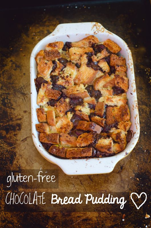 Gluten Free Chocolate Bread Pudding   soletshangout.com