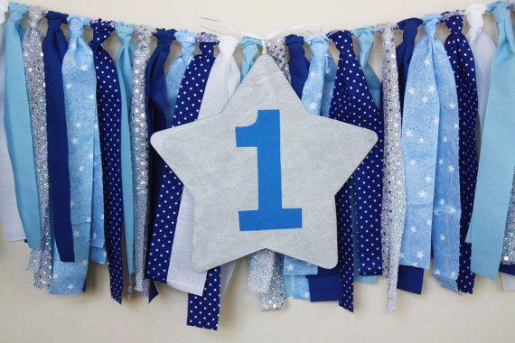 Blue Navy Twinkle Little Star Highchair High by MyLittleBoobug