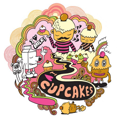 I <3 Cupcakes - Stickers by Jeremyville