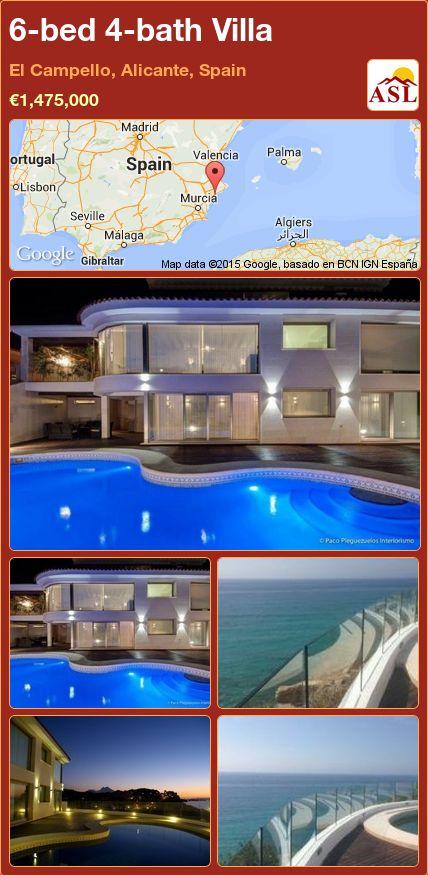 6-bed 4-bath Villa in El Campello, Alicante, Spain ►€1,475,000 #PropertyForSaleInSpain