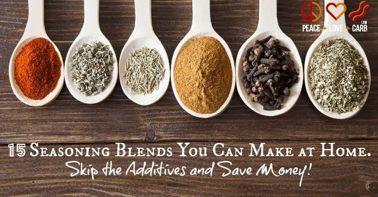 15 Seasoning Blends You Can Make At Home - Low Carb, Gluten Free | Peace Love and Low Carb