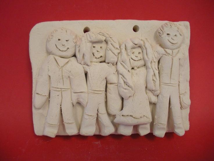 Clay figure portrait lesson relief sculpture