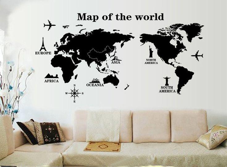 Il Mondo in una stanza con...gli adesivi murali. Scegliete quello più adatto per l'ambiente che volete rinnovare...non serve aspettare la primavera, Natale è vicino per farsi un regalo cambiando look alla casa.
